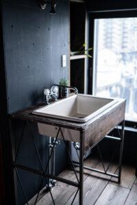 オーダー家具 洗面台 企業ロゴ
